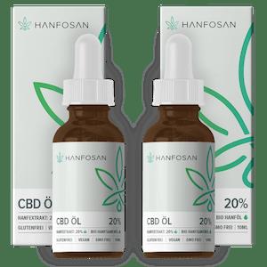CBD Öl 20 % im Doppelpack von Hanfosan