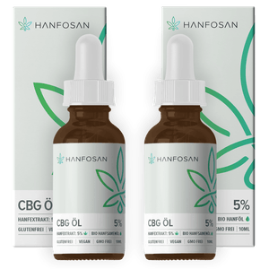 CBG Öl 5% im Doppelpack von Hanfosan